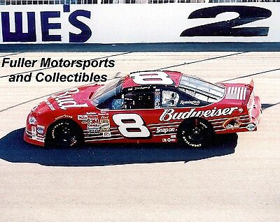 DALE EARNHARDT JR #8 BUDWEISER CHEVY 2001 NASCAR WINSTON CUP 8X10 PHOTO