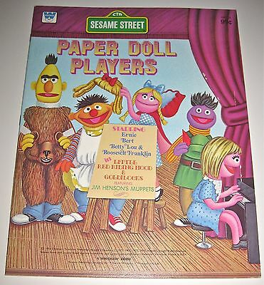 Whitman 1976 Sesame Street Paper Doll Players *UNCUT* Thick Paperback. NICE!