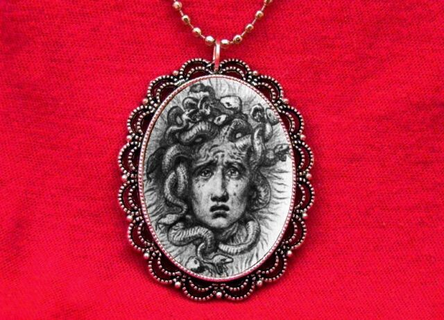 MEDUSA SNAKES GODDESS MYTHOLOGY PENDANT NECKLACE GOTH