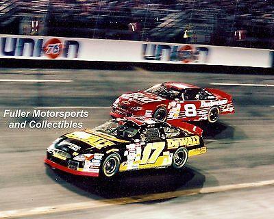 MATT KENSETH vs DALE EARNHARDT JR NO BULL 5 2000 8X10 PHOTO NASCAR WINSTON CUP