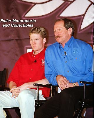 DALE EARNHARDT SR & DALE JR 1999 COUNTDOWN TO EDAY NASCAR WINSTON CUP 8X10 PHOTO