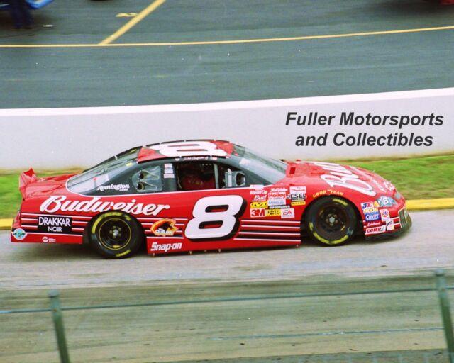 DALE EARNHARDT JR 2002 #8 BUDWEISER CHEVY MARTINSVILLE NASCAR CUP 8X10 PHOTO
