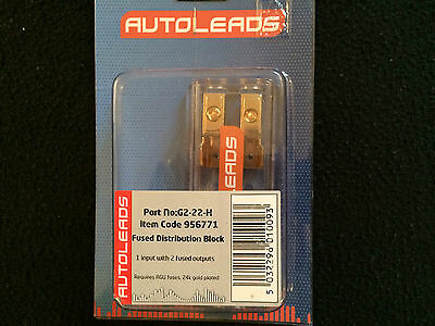 2 Way Fused AGU Fuse Holder Distribution Block 4 Awg In 8 Awg Out Amp Wiring 1