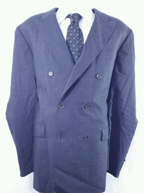 PRONTO UOMO Firenze Men's Blazer sport coat, Size 46 Wool Black, Double Breasted
