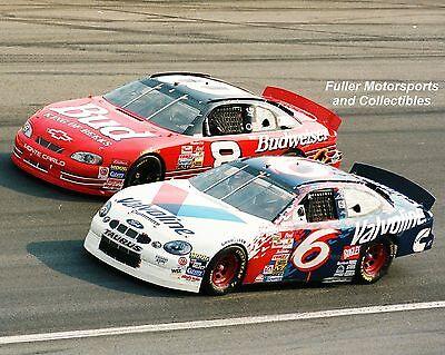 DALE EARNHARDT JR vs MARK MARTIN AT CHARLOTTE 1999 NASCAR WINSTON CUP 8X10 PHOTO