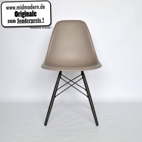 Eames Chair Vitra DSW Plastic Side Chair *NEU* Farbe Mauve Grau & Ahorn dunkel