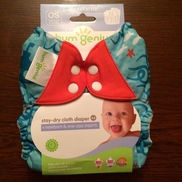 Brand New Bumgenius 4.0 Pocket Diaper Jules Print