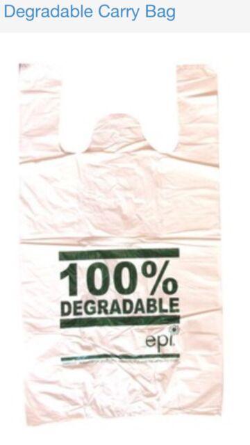 1000 SMALL Plastic bags/ Shopping carry bags, 430mm x 220mm +120mm Envi.Friendly