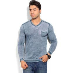 Being Human Clothing Men Blue and Grey T-shirt